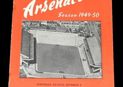 Arsenal v Blackpool 22.10.1949