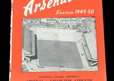 Arsenal v Charlton 19.11.1949