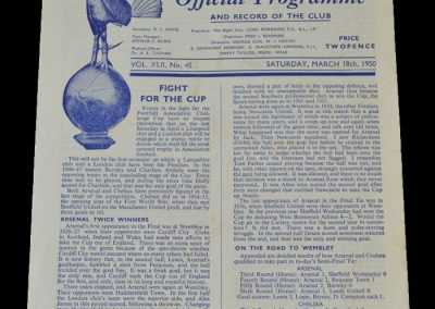 Arsenal v Chelsea 18.03.1950 - FA Cup Semi Final