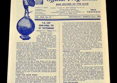 Arsenal v Chelsea 22.03.1950 - FA Cup Semi Final Replay