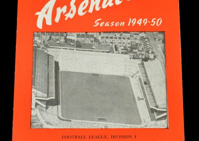Arsenal v Aston Villa 29.03.1950