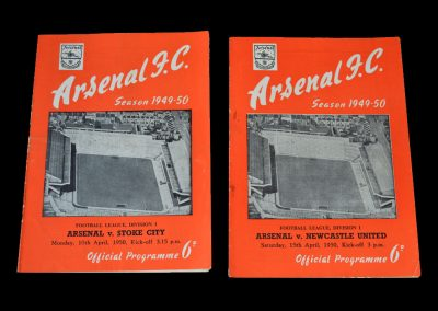 Arsenal v Stoke 10.04.1950 | Arsenal v Newcastle 15.04.1950
