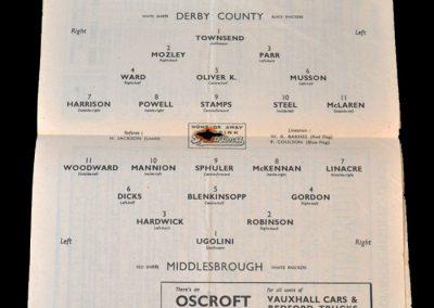 Derby v Middlesbrough 05.11.1949