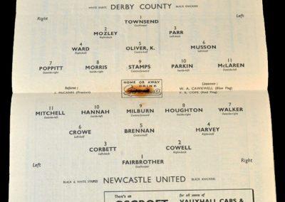 Derby v Newcastle 29.03.1950