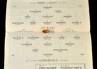 Derby Reserves v Huddersfield Reserves 22.04.1950