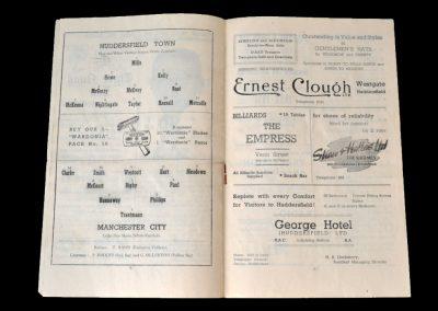 Man City v Huddersfield 22.08.1951