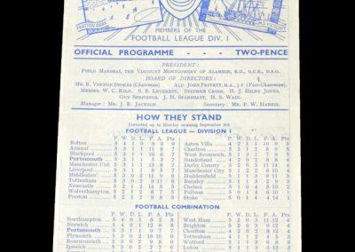 Man City v Portsmouth 05.09.1951