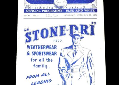 Man City v Arsenal 22.09.1951