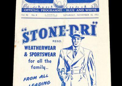 Man City v Middlesbrough 10.11.1951