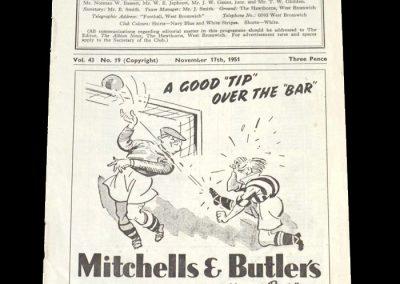 Man City v West Brom 17.11.1951