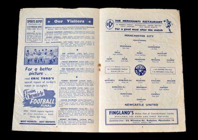 Man City v Newcastle 24.11.1951