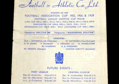 Man City v Bolton 01.12.1951