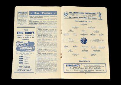 Man City v Blackpool 09.02.1952