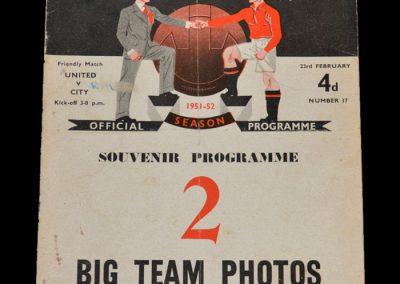 Man City v Man Utd 23.02.1952 - Friendly