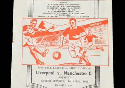 Man City v Liverpool 14.04.1952