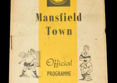 Mansfield v Notts Forest 10.01.1953 - FA Cup 3rd Round