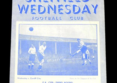 Sheff Wed v Blackpool 10.01.1953 - FA Cup 3rd Round