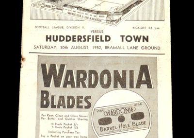 Sheff Utd v Huddersfield 30.08.1952