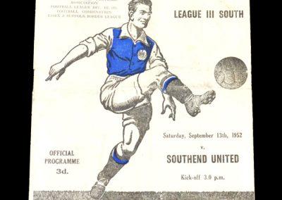 Ipswich v Southend 13.09.1952