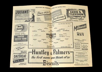 Reading v Exeter 25.10.1952