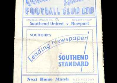 Southend v Newport 31.01.1953