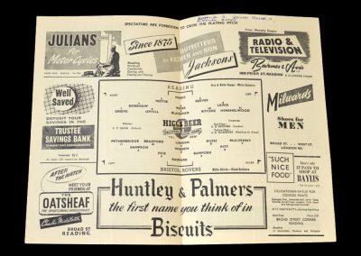 Reading v Bristol Rovers 21.03.1953