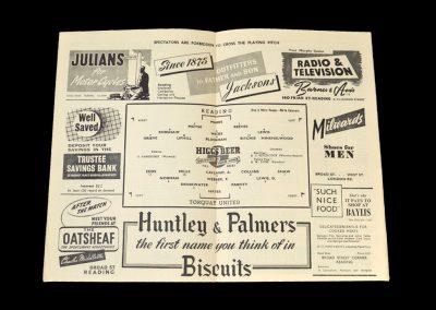Reading v Torquay 03.04.1953