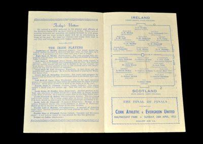 Ireland v Scotland 06.04.1953 - Junior International