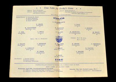 England Schools v Eire Schools 25.04.1953