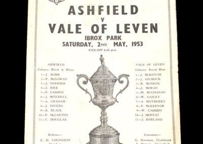 Ashfield v Vale of Leven 02.05.1953 - Scottish Junior Cup Semi Final