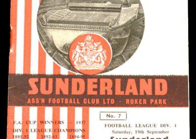 Sunderland v Blackburn 19.09.1964