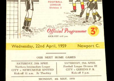 Bradford City v Newport C 22.04.1959