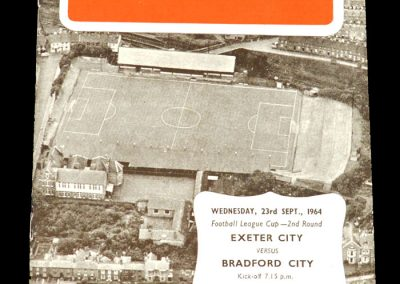 Exeter v Bradford City 23.09.1964 | League Cup 2nd Round Replay