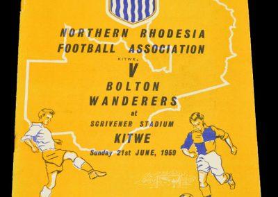 Northern Rhodesia v Bolton Wanderers 21.06.1959