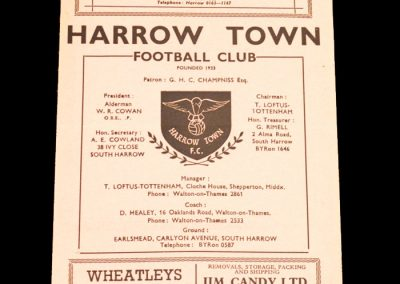Harrow Town v Staines 11.09.1958