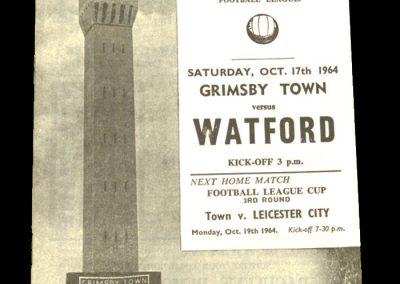 Grimsby v Watford 17.10.1964
