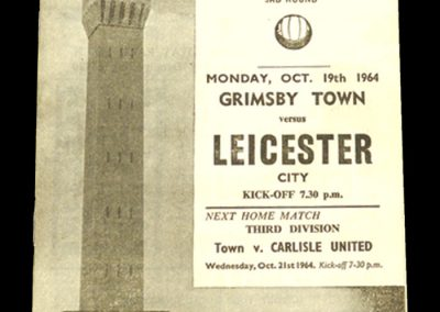Grimsby v Leicester 19.10.1964 | League Cup 3rd Round
