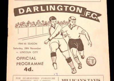 Darlington v Lincon 28.11.1964