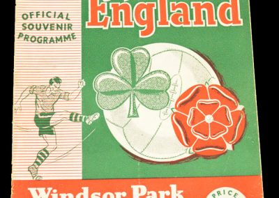 Northern Ireland v England 04.10.1958