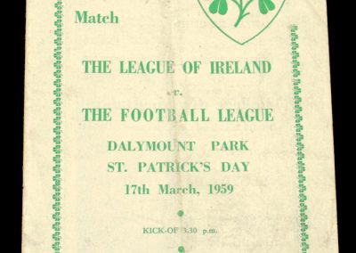 Irish League v English League 17.03.1959