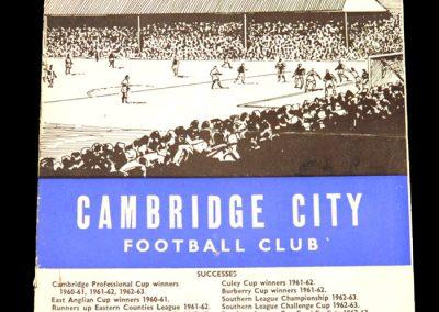Cambridge City v Wisbech 28.12.1964