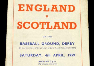 England v Scotland 04.04.1959 | English Schools Football League