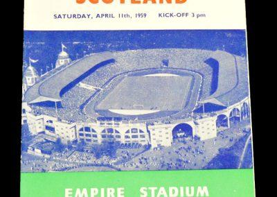 England v Scotland 11.04.1959