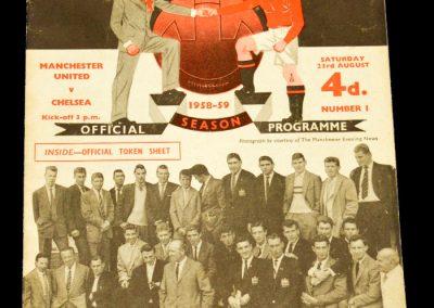Chelsea v Manchester United 23.08.1958
