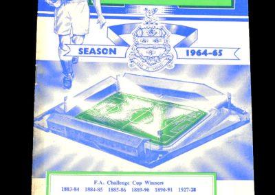 Blackburn Rovers v Sheffield Wednesday 29.01.1965 | Ronnie clayton 500th