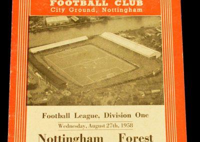 Nottingham Forest v Manchester United 27.08.1958