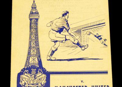 Blackpool FC v Manchester United 30.08.1958