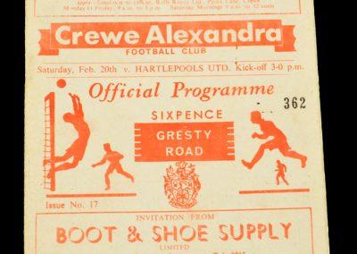 Crewe v Hartlepool 20.02.1965