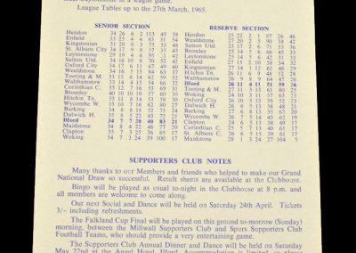 Ilford v Tooting & Mitcham 03.04.1965