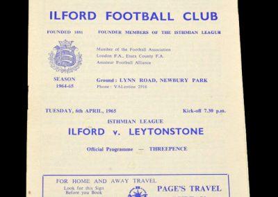 Ilford v Leytonstone 06.04.1965